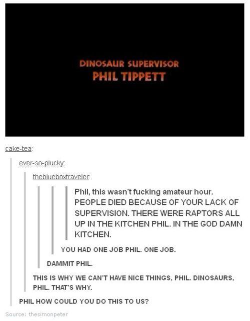 Phil Tippett, Dinosaur Supervisor » Just Laugh